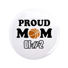 "Cool Basketball Mom of number 2 3.5"" Button (100 p"