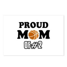 Cool Basketball Mom of number 2 Postcards (Package