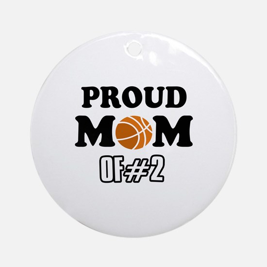 Cool Basketball Mom of number 2 Ornament (Round)