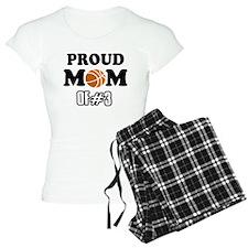 Cool Basketball Mom of number 3 Pajamas