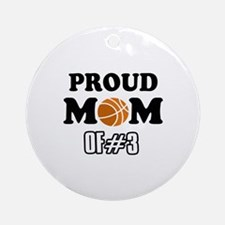 Cool Basketball Mom of number 3 Ornament (Round)