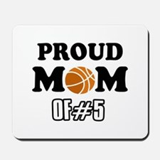 Cool Basketball Mom of number 5 Mousepad
