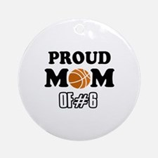 Cool Basketball Mom of number 6 Ornament (Round)