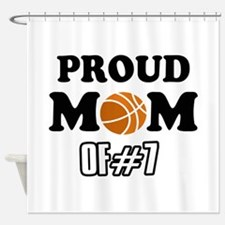 Cool Basketball Mom of number 7 Shower Curtain