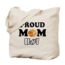 Cool Basketball Mom of number 7 Tote Bag
