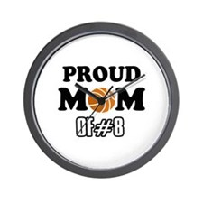 Cool Basketball Mom of number 8 Wall Clock