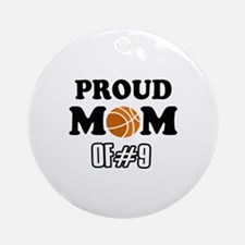 Cool Basketball Mom of number 9 Ornament (Round)