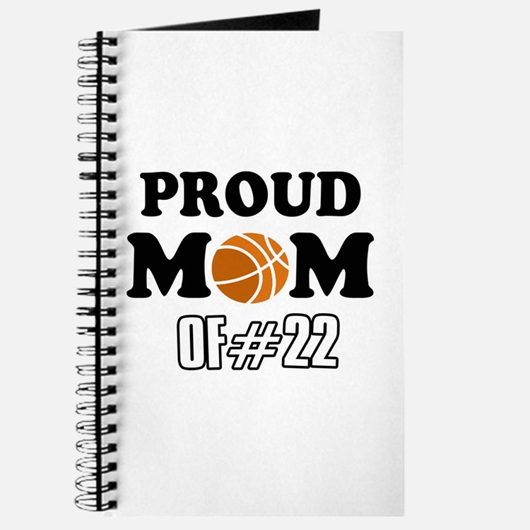 Cool Basketball Mom of number 22 Journal