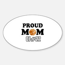 Cool Basketball Mom of number 22 Sticker (Oval)