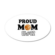 Cool Basketball Mom of number 22 Wall Decal