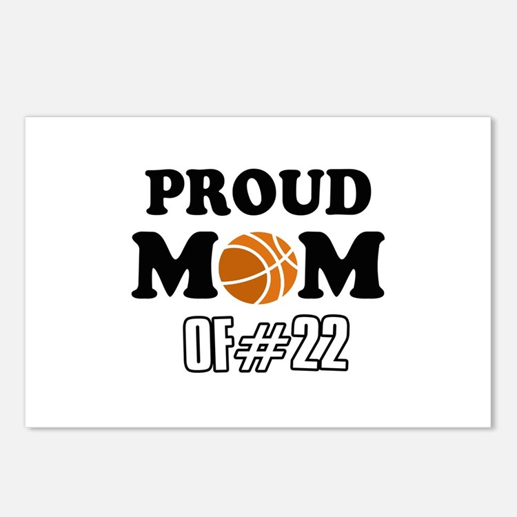 Cool Basketball Mom of number 22 Postcards (Packag