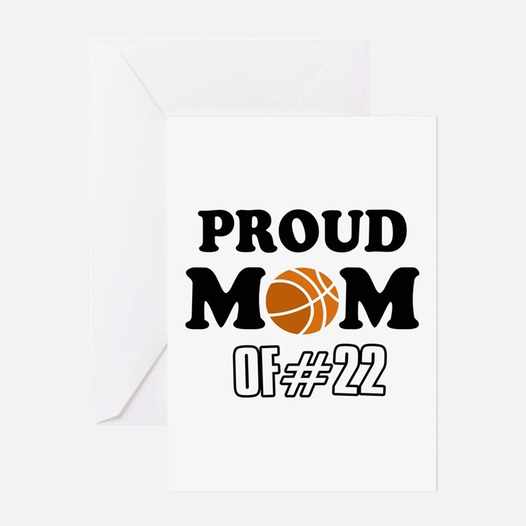 Cool Basketball Mom of number 22 Greeting Card
