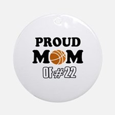 Cool Basketball Mom of number 22 Ornament (Round)