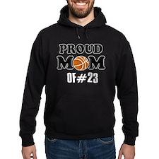 Cool Basketball Mom of number 23 Hoodie