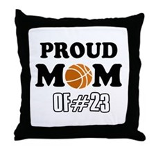 Cool Basketball Mom of number 23 Throw Pillow