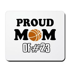Cool Basketball Mom of number 23 Mousepad