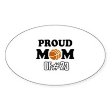 Cool Basketball Mom of number 23 Decal