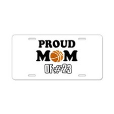 Cool Basketball Mom of number 23 Aluminum License