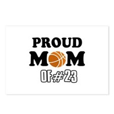 Cool Basketball Mom of number 23 Postcards (Packag