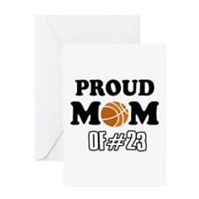 Cool Basketball Mom of number 23 Greeting Card
