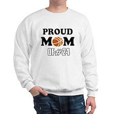 Cool Basketball Mom of number 24 Sweatshirt