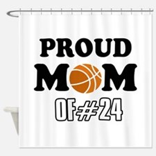 Cool Basketball Mom of number 24 Shower Curtain