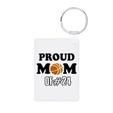 Cool Basketball Mom of number 24 Keychains