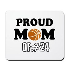 Cool Basketball Mom of number 24 Mousepad