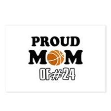 Cool Basketball Mom of number 24 Postcards (Packag