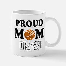 Cool Basketball Mom of number 25 Mug