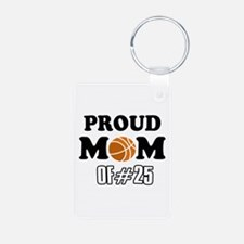 Cool Basketball Mom of number 25 Keychains