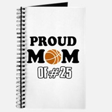 Cool Basketball Mom of number 25 Journal