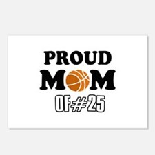 Cool Basketball Mom of number 25 Postcards (Packag