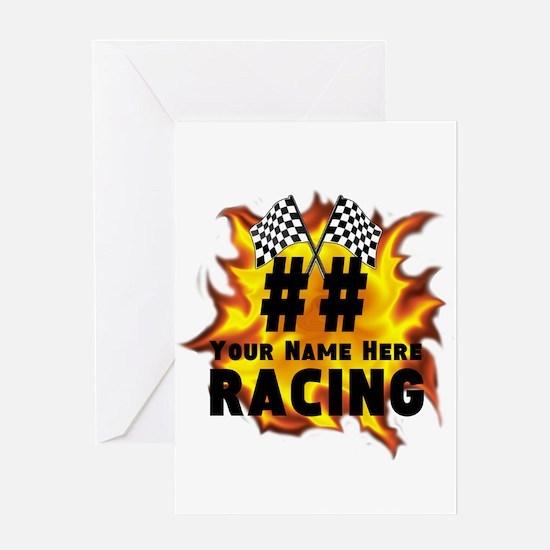 Flaming Racing Greeting Cards