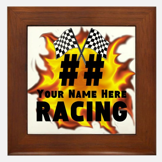 Flaming Racing Framed Tile