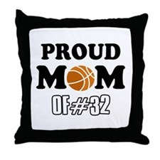 Cool Basketball Mom of number 32 Throw Pillow