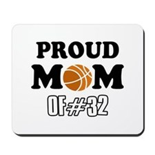 Cool Basketball Mom of number 32 Mousepad