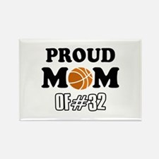 Cool Basketball Mom of number 32 Rectangle Magnet