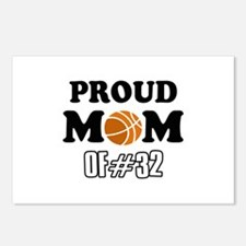 Cool Basketball Mom of number 32 Postcards (Packag