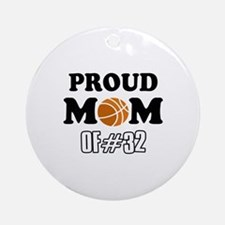 Cool Basketball Mom of number 32 Ornament (Round)
