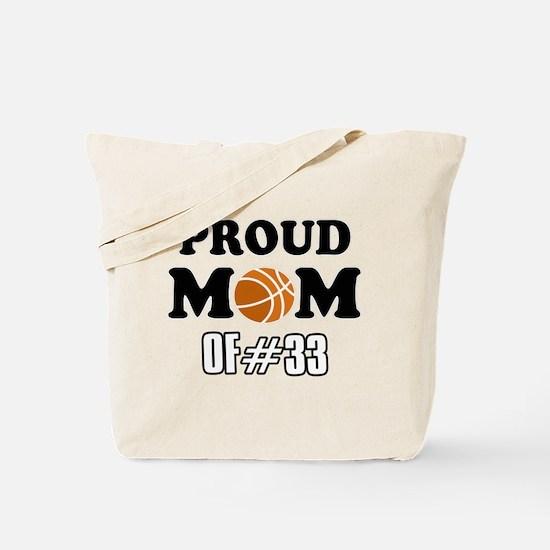Cool Basketball Mom of number 33 Tote Bag
