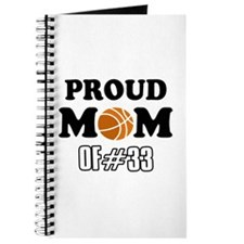 Cool Basketball Mom of number 33 Journal