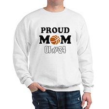 Cool Basketball Mom of number 34 Sweatshirt