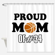 Cool Basketball Mom of number 34 Shower Curtain