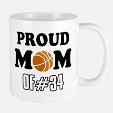 Cool Basketball Mom of number 34 Mug