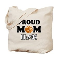 Cool Basketball Mom of number 34 Tote Bag