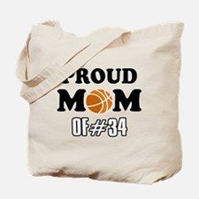 Cool Basketball Mom of number 34 Tote Bag