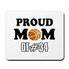 Cool Basketball Mom of number 34 Mousepad