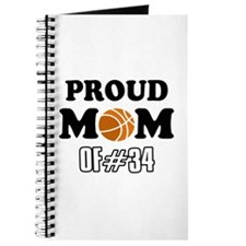 Cool Basketball Mom of number 34 Journal