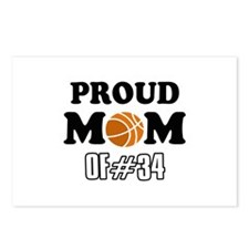 Cool Basketball Mom of number 34 Postcards (Packag